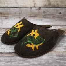 Комнатные мужские паркетные войлочные тапочки TapOK T102brw коричневые