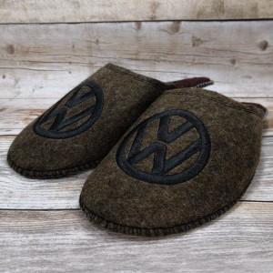 Комнатные мужские паркетные войлочные тапочки TapOK T106brb коричневые