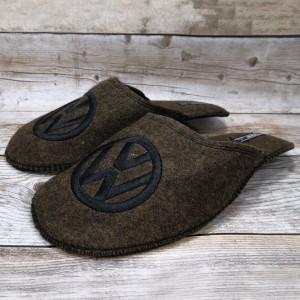 Комнатные мужские паркетные войлочные тапочки TapOK T106brw коричневые