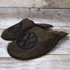 Комнатные мужские паркетные войлочные тапочки TapOK T106brw 44 размера коричневые