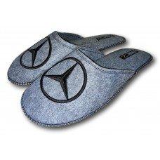 Комнатные мужские паркетные войлочные тапочки TapOK T107 серые