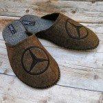 Комнатные мужские паркетные войлочные тапочки TapOK T107br коричневые