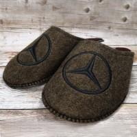 Комнатные мужские паркетные войлочные тапочки TapOK T107brb коричневые