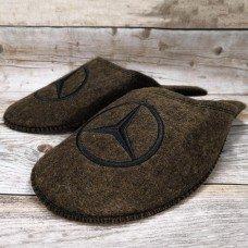 Комнатные мужские паркетные войлочные тапочки TapOK T107brw коричневые
