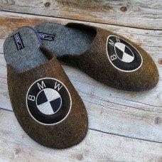 Комнатные мужские паркетные войлочные тапочки TapOK T111br коричневые