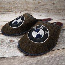 Комнатные мужские паркетные войлочные тапочки TapOK T111brb коричневые