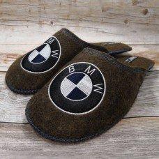 Комнатные мужские паркетные войлочные тапочки TapOK T111brw коричневые