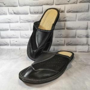 Комнатные мужские кожаные тапочки Tylbut TB398bl