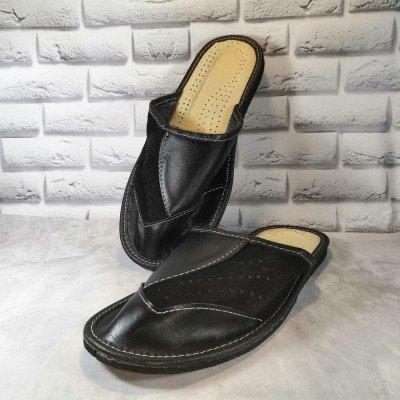 Комнатные мужские кожаные тапочки Tylbut 41 размер 27 см (модель TB398bl)