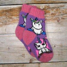 Дитячі теплі шкарпетки з вовни ангори Angorka ID150
