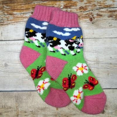 Детские ангоровые носки Angorka 28 размера 17 см (модель ID153)