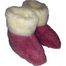 Домашние детские тапочки сапожки из натуральной овечьей шерсти Elisa 16 размер