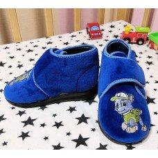 Бархатные тапочки для садика БЕЛСТА (BELSTA) для мальчика B1807blu синие