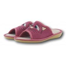 Комнатные детские тапочки с кошечкой БЕЛСТА (BELSTA) B3003 розовые