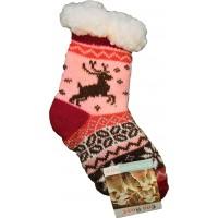 Детские теплые тапки-носки с силиконовыми вставками на подошве Emi Ross EJ-6208-r