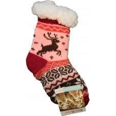 Дитячі теплі капці-шкарпетки з силіконовими вставками на підошві Emi Ross EJ-6208-r