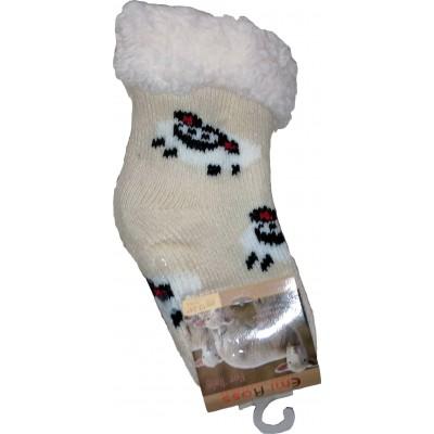 Детские теплые тапки-носки с силиконовыми вставками на подошве Emi Ross 14-14,5 размера 0-12 месяцев (модель EJ-6812-b)