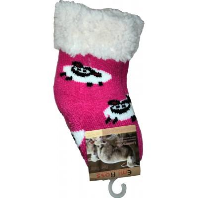 Детские теплые тапки-носки с силиконовыми вставками на подошве Emi Ross 17-19 размера 24-36 месяцев (модель EJ-6812-dp)