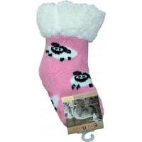 Детские теплые тапки-носки с силиконовыми вставками на подошве Emi Ross EJ-6812-p