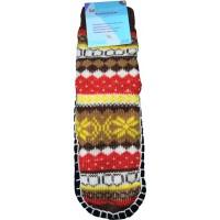 Детские теплые тапки-носки с подошвой LookEN SM-DT-6111-br 32-35 размера