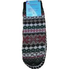 Детские теплые тапки-носки с подошвой LookEN SM-DT-6111-g
