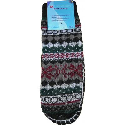 Детские тапки-носки с подошвой LookEN 32-35 размера 19 см (модель SM-DT-6111-g)