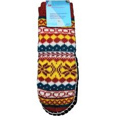 Дитячі теплі капці-шкарпетки з підошвою LookEN SM-DT-6111-o