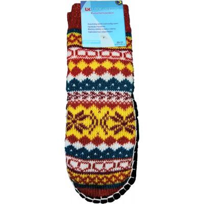 Детские тапки-носки с подошвой LookEN 28-31 размера 16,5 см (модель SM-DT-6111-o)