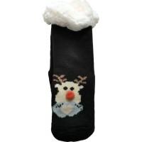 Дитячі теплі тапочки-шкарпетки з силіконовими вставками на підошві LookEN SM-HL-7211D-bl