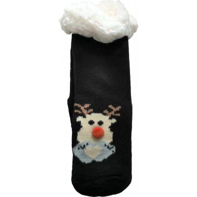 Детские теплые тапки-носки с силиконовыми вставками на подошве LookEN (модель SM-HL-7211D-bl)