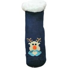 Дитячі теплі тапочки-шкарпетки з силіконовими вставками на підошві LookEN SM-HL-7211D-b