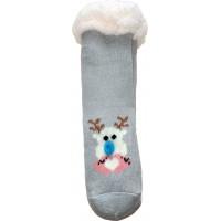 Дитячі теплі тапочки-шкарпетки з силіконовими вставками на підошві LookEN SM-HL-7211D-g