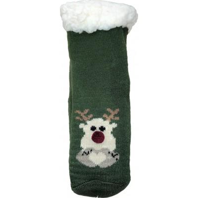 Детские теплые тапки-носки с силиконовыми вставками на подошве LookEN 26-28 размера (модель SM-HL-7211D-gr)