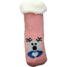Дитячі теплі тапочки-шкарпетки з силіконовими вставками на підошві LookEN SM-HL-7211D-p