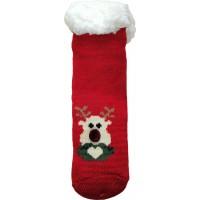 Дитячі теплі тапочки-шкарпетки з силіконовими вставками на підошві LookEN SM-HL-7211D-r