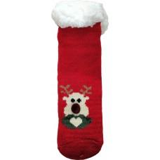 Детские теплые тапки-носки с силиконовыми вставками на подошве LookEN SM-HL-7211D-r