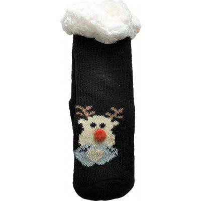 Детские теплые тапки-носки с силиконовыми вставками на подошве LookEN 26-28 размера (модель SM-HL-7211D-bl)