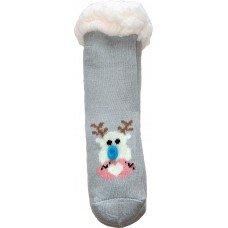 Детские теплые тапки-носки с силиконовыми вставками на подошве LookEN SM-HL-7211D-g