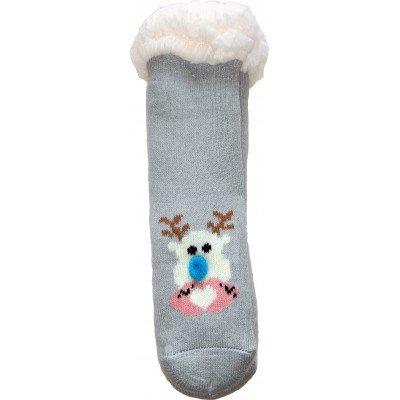 Детские теплые тапки-носки с силиконовыми вставками на подошве LookEN 29-32 размера (модель SM-HL-7211D-g)
