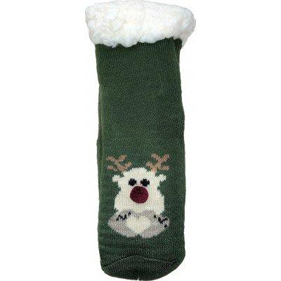 Дитячі теплі капці-шкарпетки з силіконовими вставками на підошві LookEN 26-28 розміру (модель SM-HL-7211D-gr)