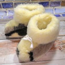 Домашние теплые детские чуни из шерсти TK-02 25 размера