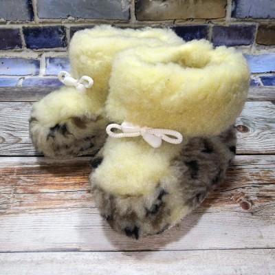 Детские теплые шерстяные чуни (сапожки) 25 размера 16 см (модель TK-03)