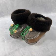 Домашние детские тапочки-пинетки из шерсти TK-06 21 размера
