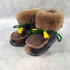 Домашние детские тапочки-пинетки из шерсти TK-11 20 размера