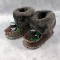 Домашние детские тапочки-пинетки из шерсти TK-14 20 размера