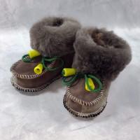 Домашние детские тапочки-пинетки из шерсти TK-19 20 размера