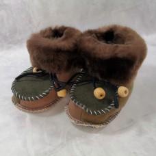 Домашние детские тапочки-пинетки из шерсти TK-22 21 размера