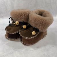 Домашние детские тапочки-пинетки из шерсти TK-24 21 размера