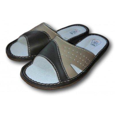 Детские кожаные домашние тапочки для мальчиков TapMal (модель B193)