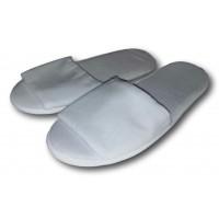 Комнатные велюровые тапочки для гостей универсального размера Kh-02w с открытым носком